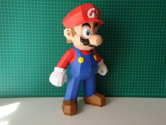 Mario из бумаги