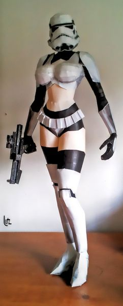 Girl trooper paper