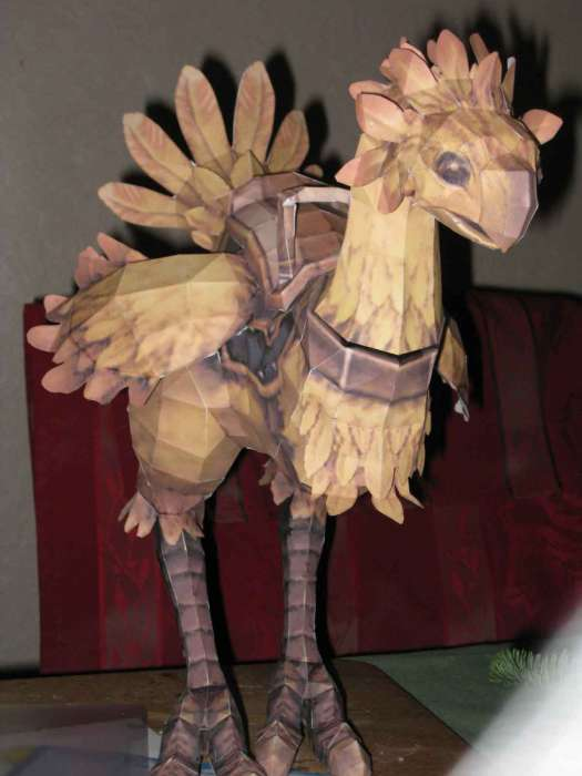 Final Fantasy Chocobo Papercraft