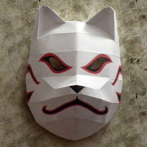 Как сделать маску анбу из бумаги