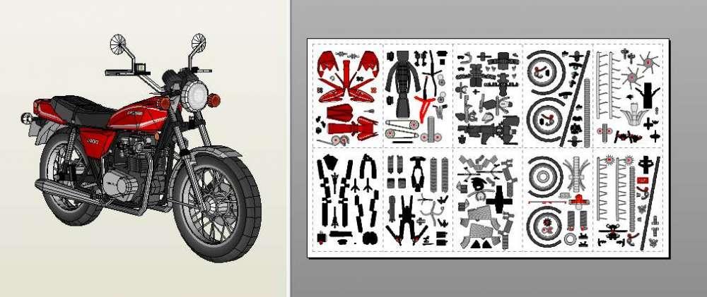 как сделать мотоцикл из бумаги