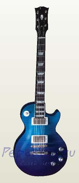 гитара из бумаги
