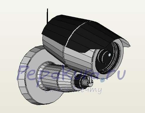 камера наблюдения из бумаги