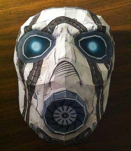 маска психа из бумаги