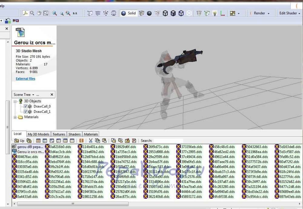 3d модели персонажей из игр
