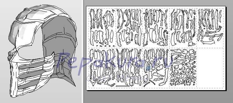 Как сделать маску скорпиона из бумаги своими руками 30