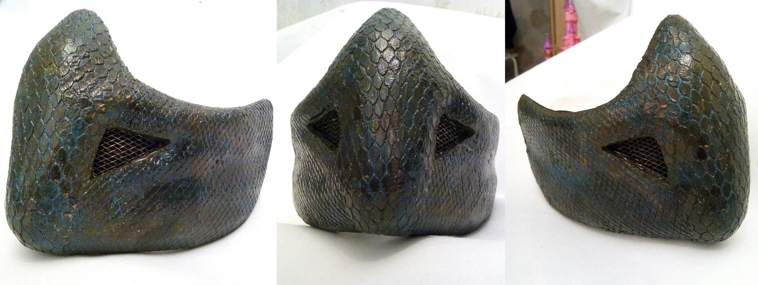 Маска рептилии из бумаги