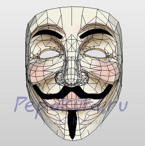 маска Гая фокса как сделать