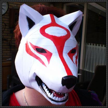 маска волка из бумаги