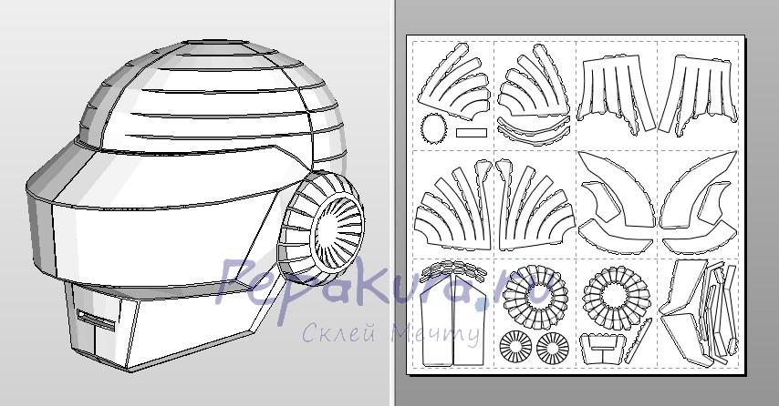 шлем Томаса сделать из бумаги своими руками