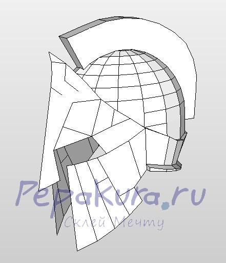 Шлем своими руками из картона схема