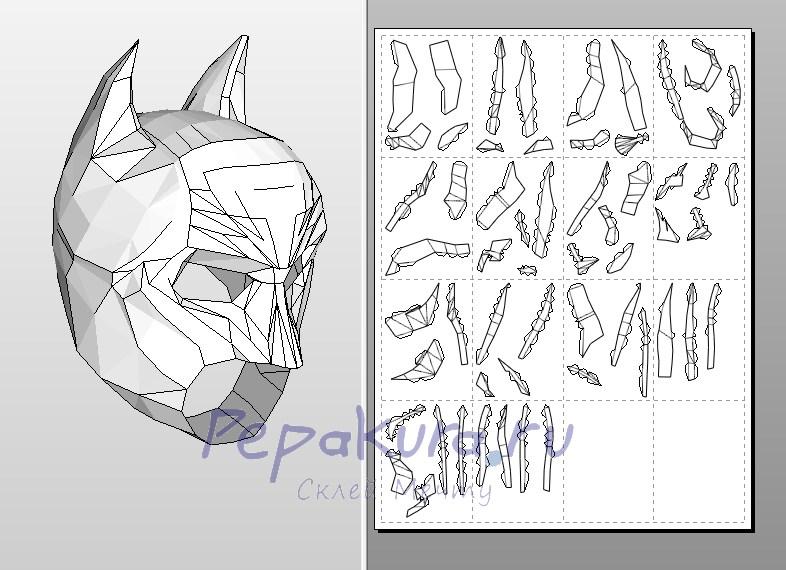 как сшить маску бэтмона