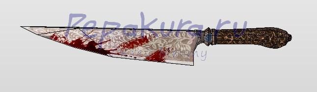 нож из бумаги