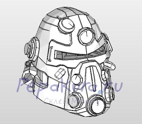 силовой шлем из бумаги