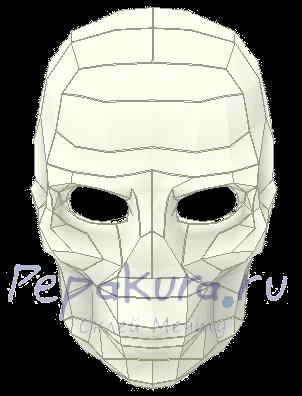 как сделать маску скелета