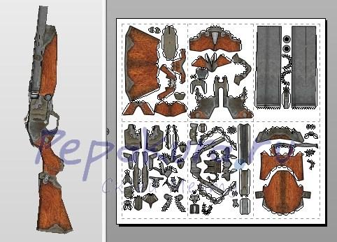 Как сделать двустволку из бумаги фото - Lumalive