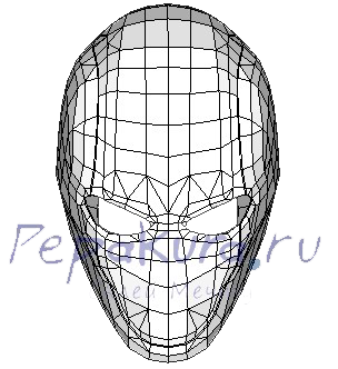 Red Hood mask pepakura