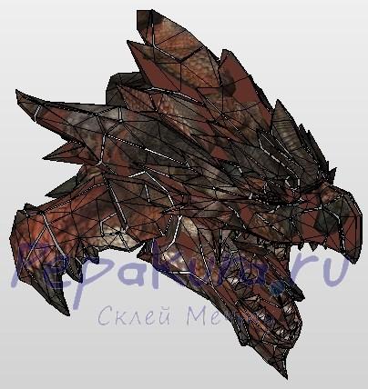 голова дракона из бумаги