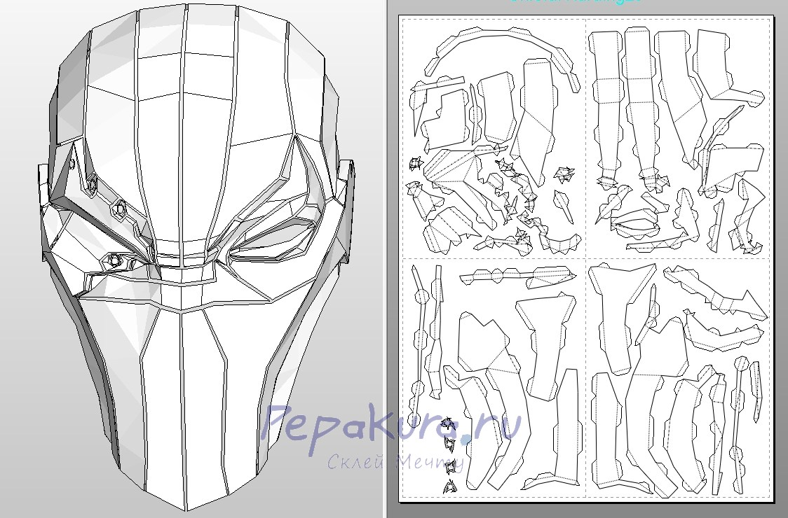 The gallery for deathstroke mask pepakura for Deathstroke armor template