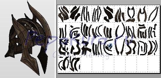 эльфиский шлем из бумаги
