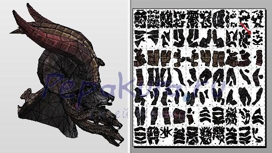 голова Бафомета из бумаги