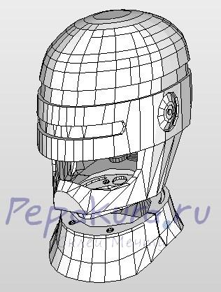 развертка шлема робокопа