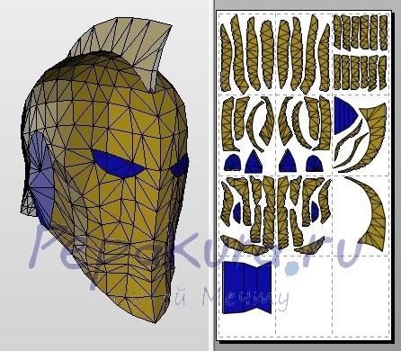 Модель шлема Набу из бумаги
