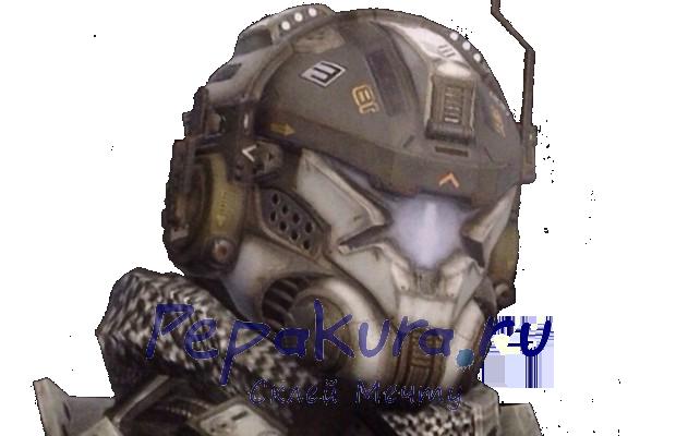 Titanfall шлем пилота из бумаги