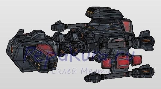 battlecruiser papercraft