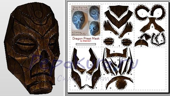 маска драконьего жреца сделать