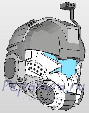 pilot helmet papercraft