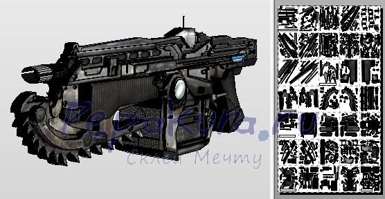 Автоматическая винтовка Лансер из бумаги