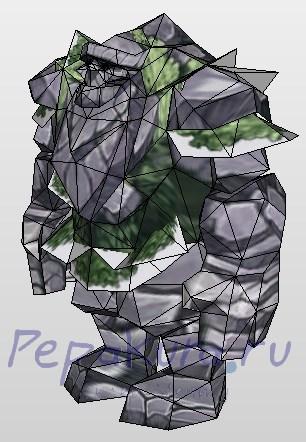 Каменный Гигант из бумаги