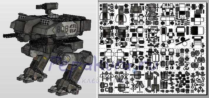боевой робот из бумаги