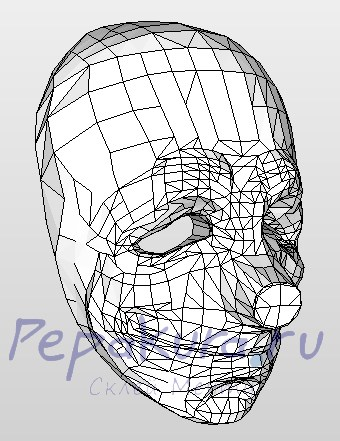 маска Хокстона из бумаги