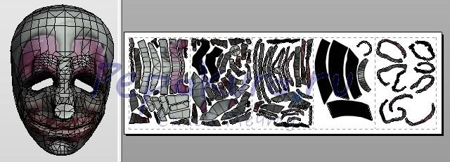 развертка маски Хокстона из бумаги