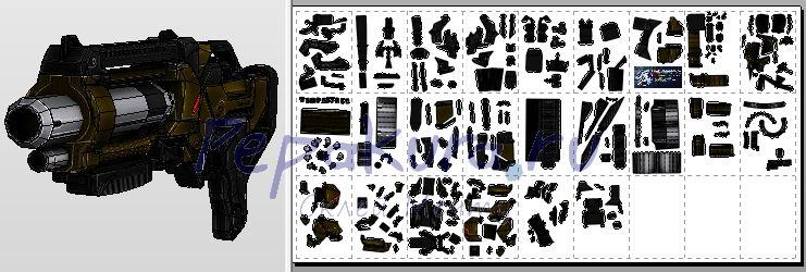 M-11 Wraith из бумаги