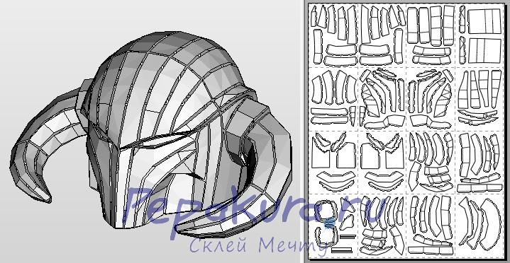 Шлем берсеркера из бумаги