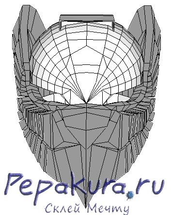 Aquilla Helmet papercraft