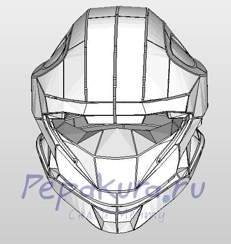 Сделать Мото шлем