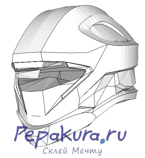 recon helmet papercraft