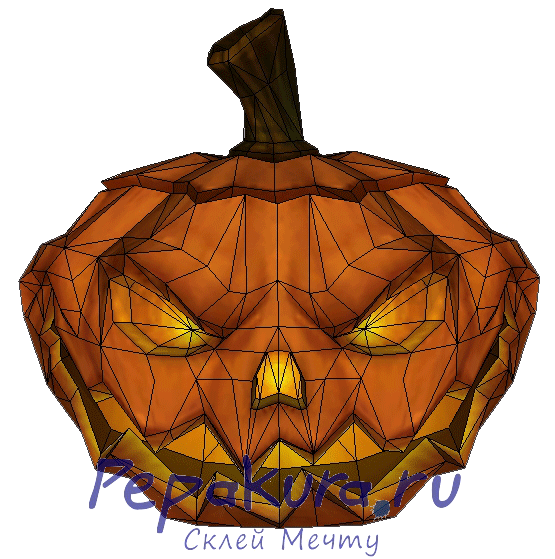 Halloween Pumpkin papercraft