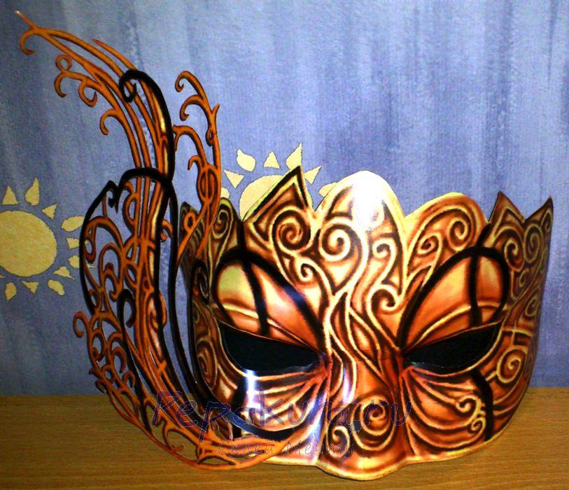 Hellequin Mask papercraft