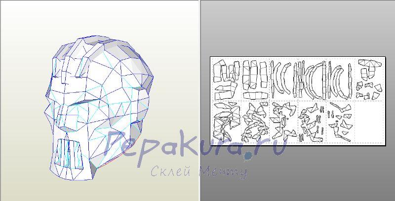 Creator Viktor шлем из бумаги