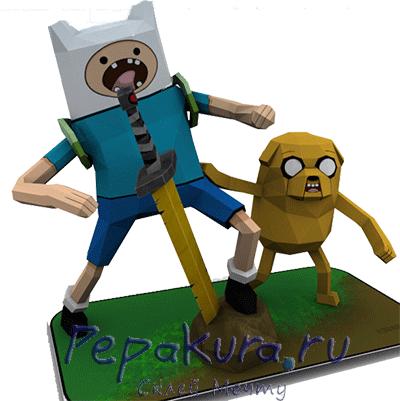 Finn-&-Jake-papercraft