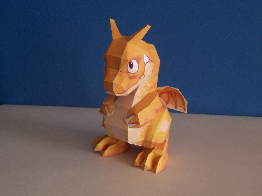 Pepakura_Dragon_Done