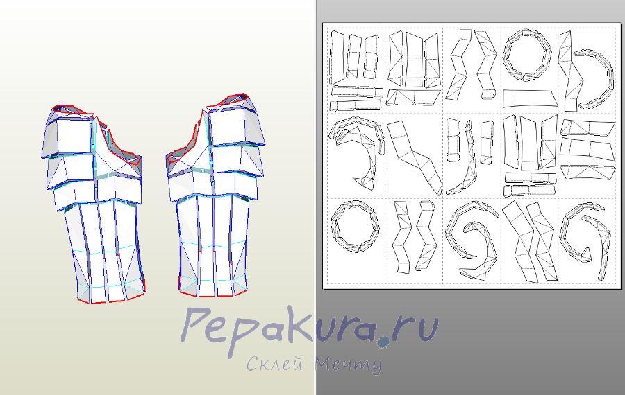 Predator Armor papercraft