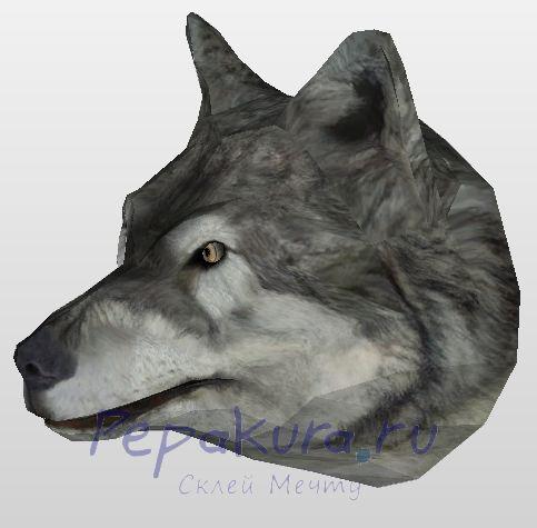 Wolf head papercraft