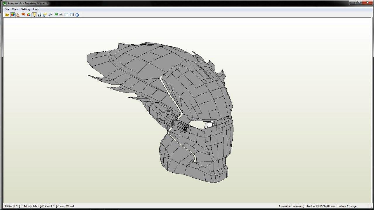 схема сборки шлема из скайрима из бумаги