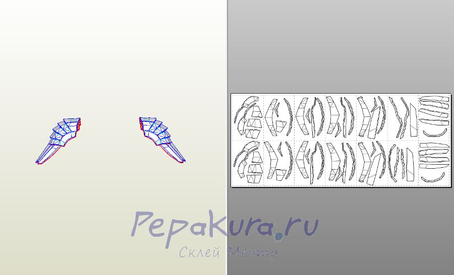 predator shoulders papercraft